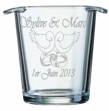 graveur de verre seau glaonseau gravseau champagne gravseau personnalisseau - Gravure Sur Verre Mariage Bapteme