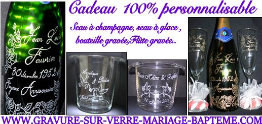Bouteilles grav es pour for Bouteille de vin personnalisee montreal